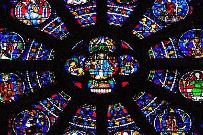 Glass church window
