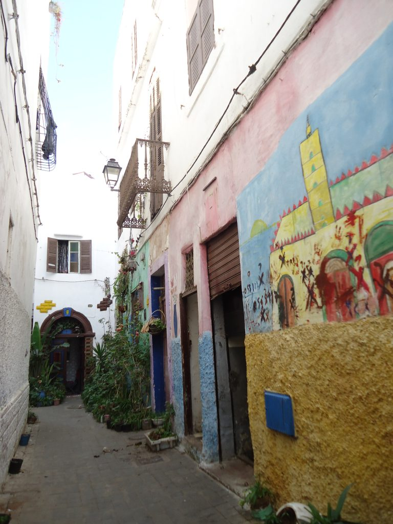 Alley in the old city of Casablanca